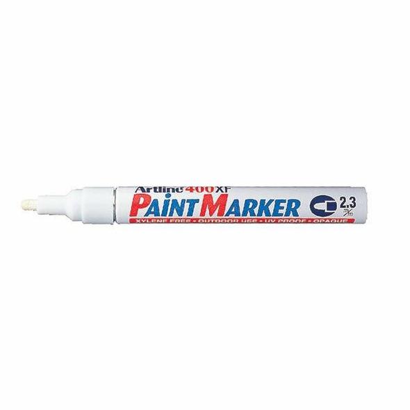 Artline 400 Permanent Paint Marker 2.3mm Bullet White Box15 140033B