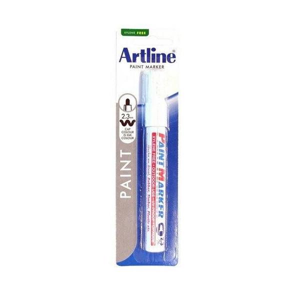 Artline 400 Permanent Paint Marker 2.3mm Bullet White Hangsell X CARTON of 12 140063