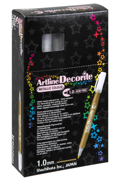 Artline Decorite Metallic 1.0 Silver BOX12 140732