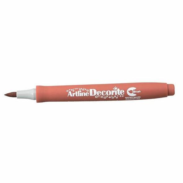 Artline Decorite Standard Brush Brown BOX12 140808