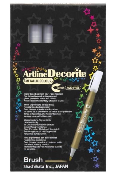 Artline Decorite Metallic Brush Gold BOX12 140831