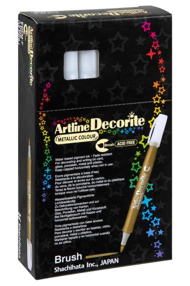 Artline Decorite Metallic Brush Silver BOX12 140832