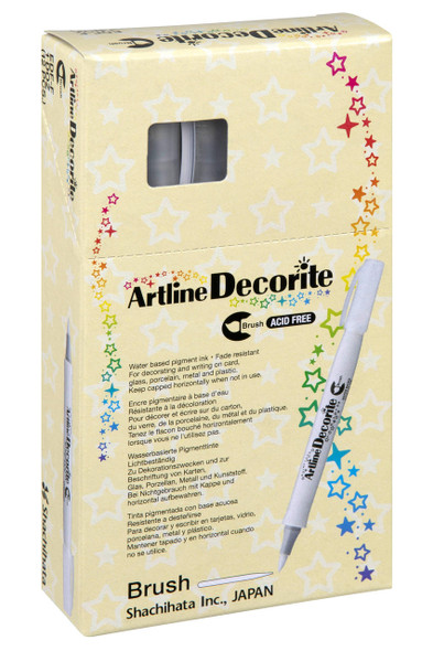 Artline Decorite Pastel Brush Blue BOX12 140833