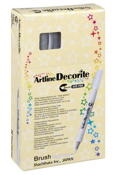 Artline Decorite Standard Brush Yellow Green BOX12 140847