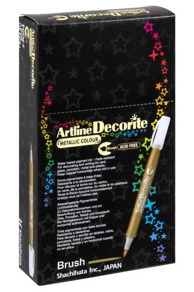 Artline Decorite Metallic Brush Red BOX12 140892