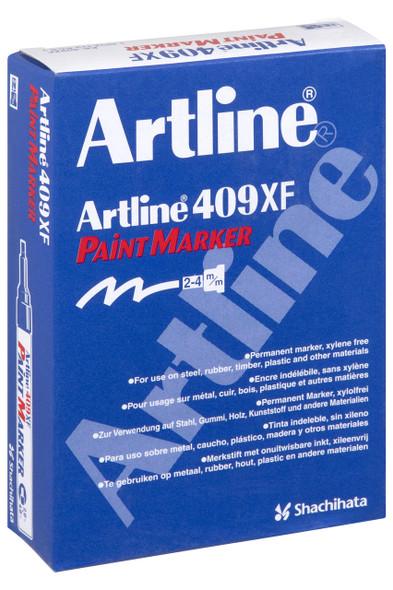Artline 409 Permanent Paint Marker 4.0mm Chisel Black BOX12 140901