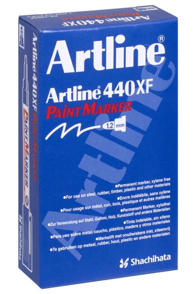 Artline 440 Permanent Paint Marker 1.2mm Bullet Black BOX12 144001