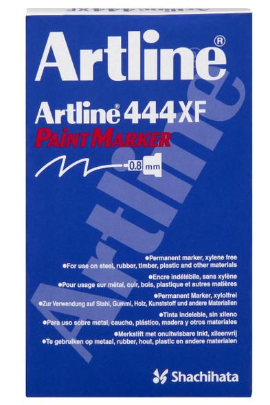 Artline 444 Permanent Paint Marker 0.8mm White BOX12 144433