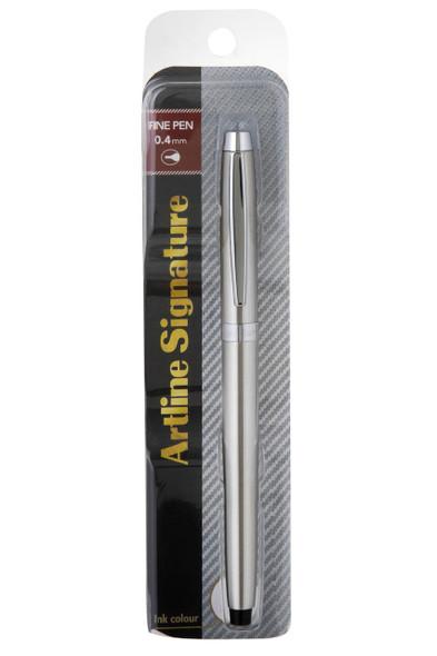 Artline Signature Silver Fine Pen Black 149201