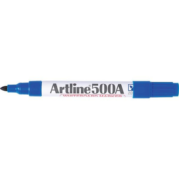 Artline 500a Whiteboard Marker 2mm Bullet Nib Blue BOX12 150003