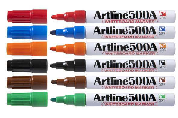 Artline 500a Whiteboard Marker 2mm Bullet Nib Assorted BOX12 150041