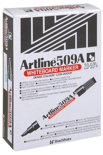 Artline 509a Whiteboard Marker 5mm Chisel Nib Blue BOX12 150903A