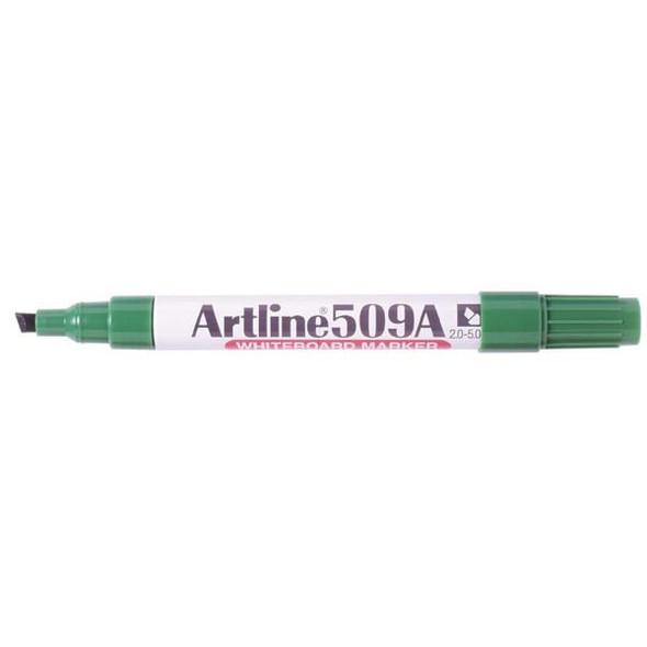 Artline 509a Whiteboard Marker 5mm Chisel Nib Green BOX12 150904A