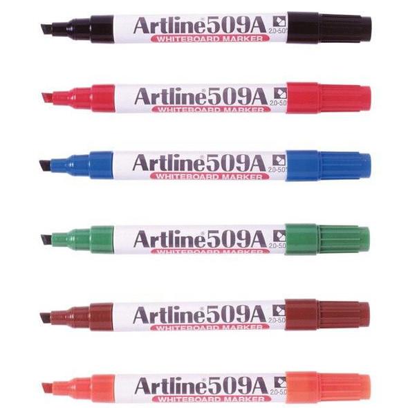 Artline 509a Whiteboard Marker 5mm Chisel Nib Assorted BOX12 150941A