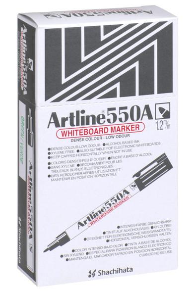 Artline 550a Whiteboard Marker 1.2mm Bullet Nib Green BOX12 155004A