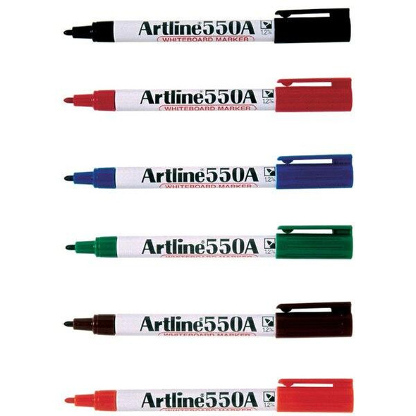 Artline 550a Whiteboard Marker 1.2mm Bullet Nib Assorted BOX12 155041A
