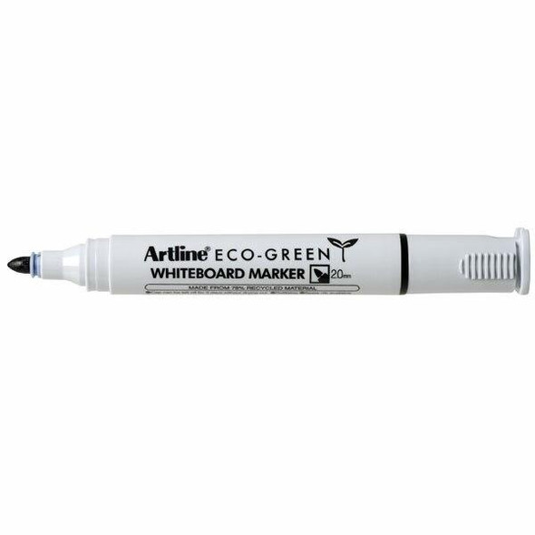 Artline 527 Eco Whiteboard Marker 2mm Bullet Nib Black BOX12 157501
