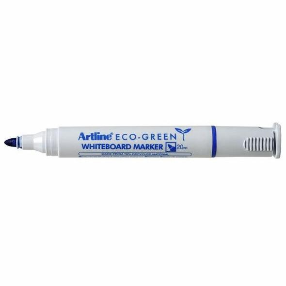 Artline 527 Eco Whiteboard Marker 2mm Bullet Nib Blue BOX12 157503