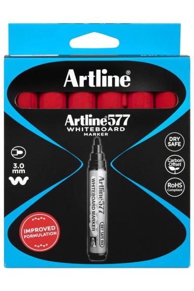Artline 577 Whiteboard Marker Red BOX12 157702
