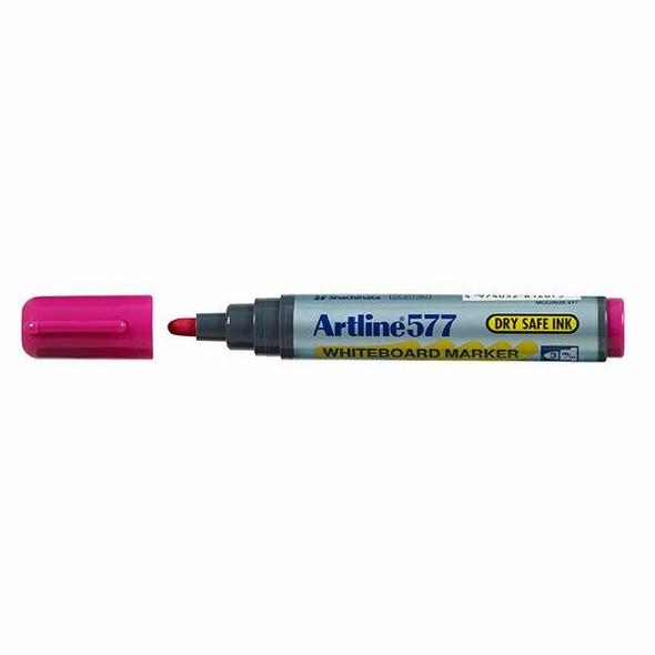 Artline 577 Whiteboard Marker Pink BOX12 157709