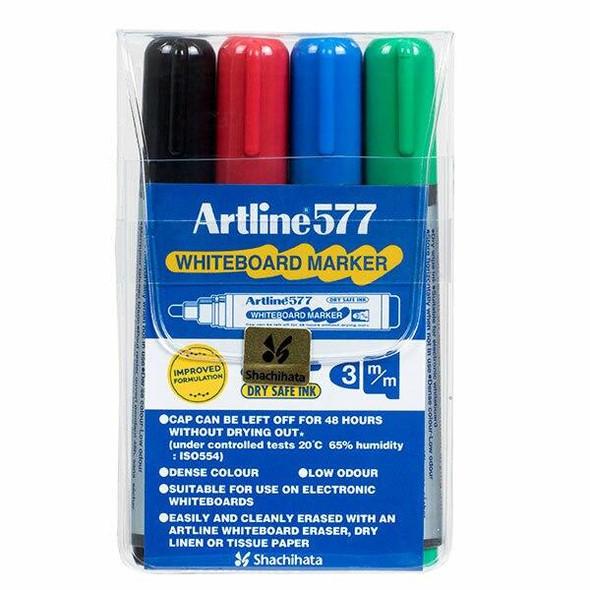 Artline 577 Whiteboard Marker Assorted Wallet4 157744