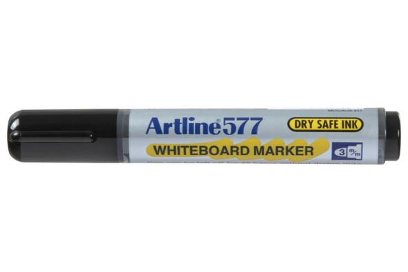 Artline 577 Whiteboard Marker Black Hangsell X CARTON of 6 157761