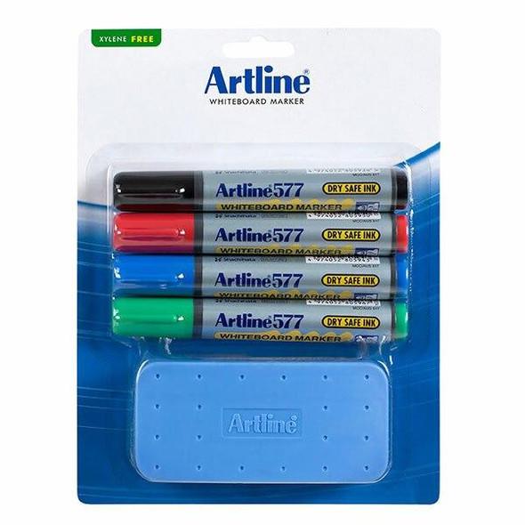 Artline 577 Whiteboard Marker Starter Kit 157781