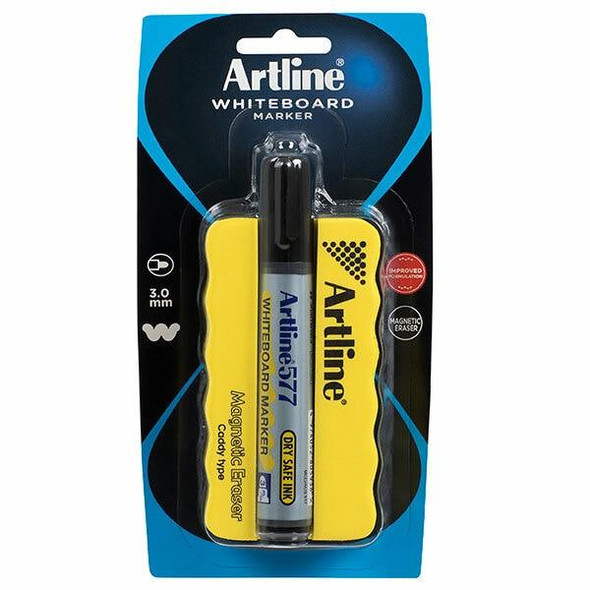 Artline 577 Whiteboard Marker Mag Eraser Caddy 157795