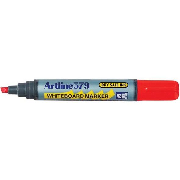 Artline 579 Whiteboard Marker 5mm Chisel Nib Red BOX12 157902