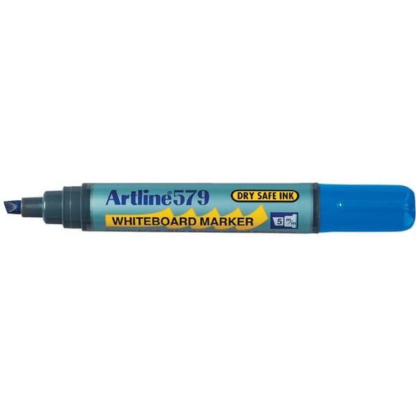 Artline 579 Whiteboard Marker 5mm Chisel Nib Blue BOX12 157903