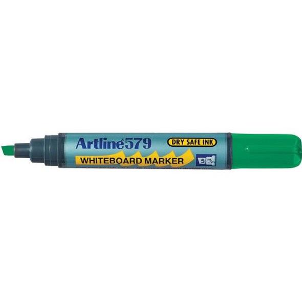 Artline 579 Whiteboard Marker 5mm Chisel Nib Green BOX12 157904