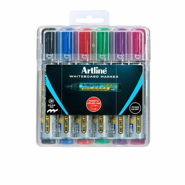 Artline 579 Whiteboard Marker Assorted X CARTON of 6 157946HC