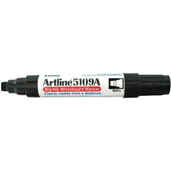 Artline 5109a Whiteboard Marker 10mm Chisel Nib Black BOX6 159001