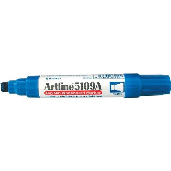 Artline 5109a Whiteboard Marker 10mm Chisel Nib Blue BOX6 159003