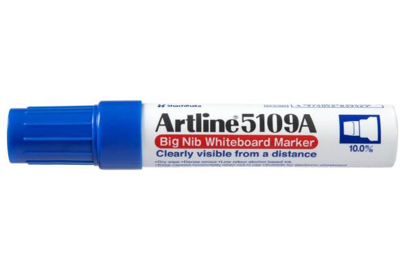 Artline 5109a Whiteboard Marker 10mm Chisel Nib Blue Hangsell X CARTON of 6 159063