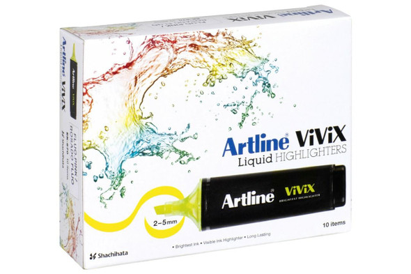 Artline Vivix Highlighter Pink Pack10 BOX10 167009
