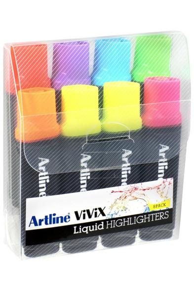 Artline Vivix Highlighter Assorted Wallet8 167078
