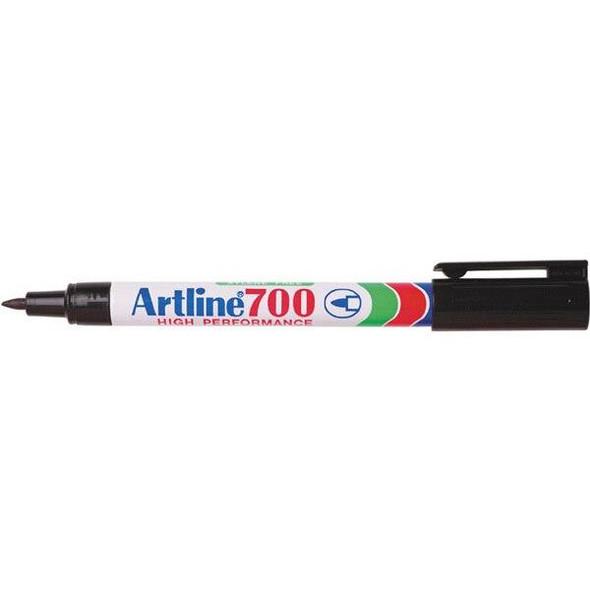 Artline 700 Permanent Marker 0.7mm Bullet Nib Black BOX12 170001