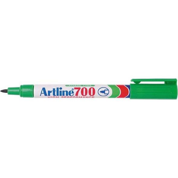 Artline 700 Permanent Marker 0.7mm Bullet Nib Green BOX12 170004