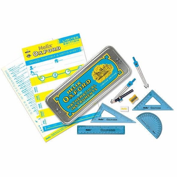Helix Oxford Clash Math Set Blue and Yellow 170510