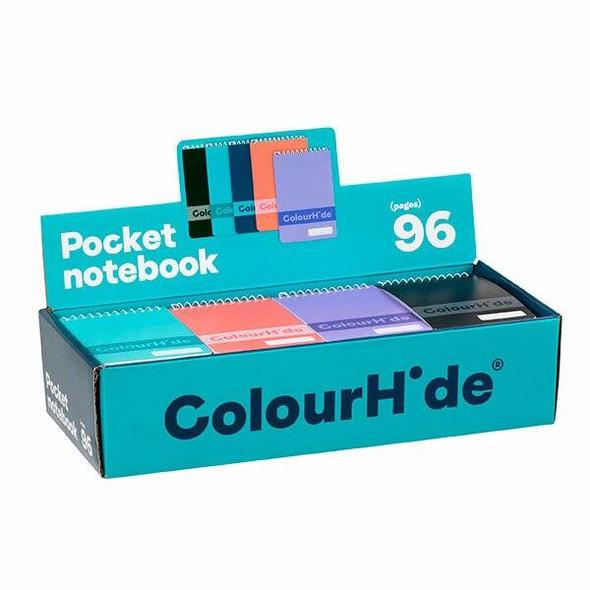 Colourhide Pocket Notebook 96page Assorted Dsply Unit X CARTON of 48 1715599JSRT