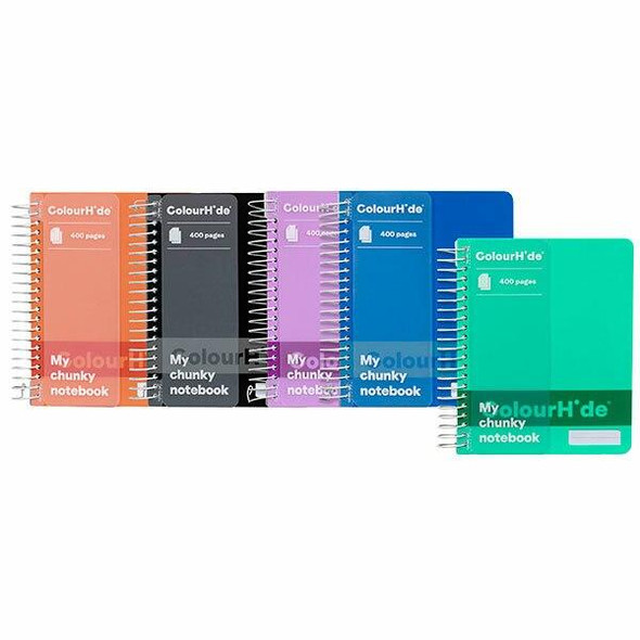 Colourhide Chunky Notebook 400page Assorted X CARTON of 5 1716599K