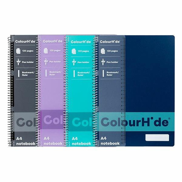 Colourhide Notebook A4 120page Pack4 1717499J