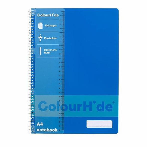 Colourhide Notebook A4 120page Blue X CARTON of 10 1719401K