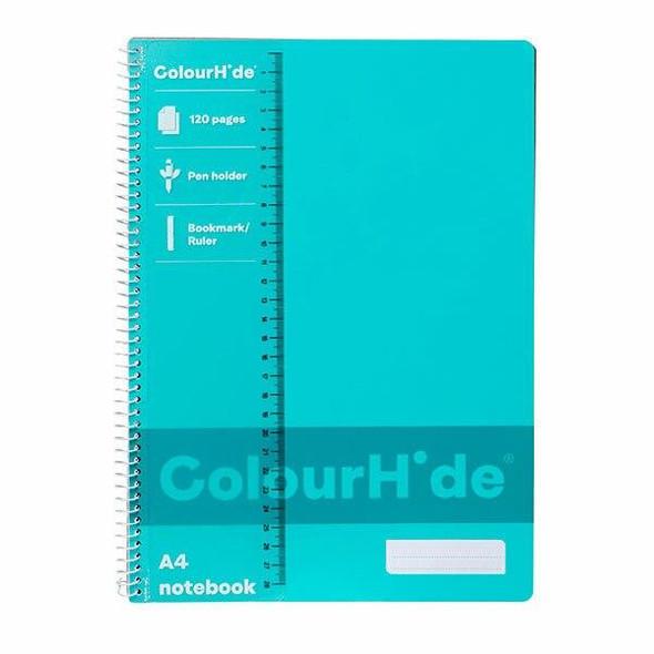 Colourhide Notebook A4 120page Aqua X CARTON of 10 1719432J