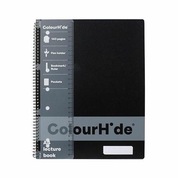 Colourhide Lecture Book A4 140page Black X CARTON of 10 1719502J