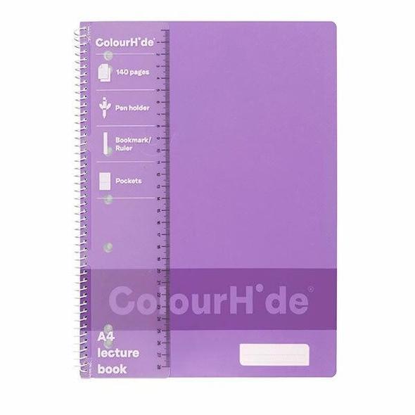 Colourhide Lecture Book A4 140page Purple X CARTON of 10 1719519J