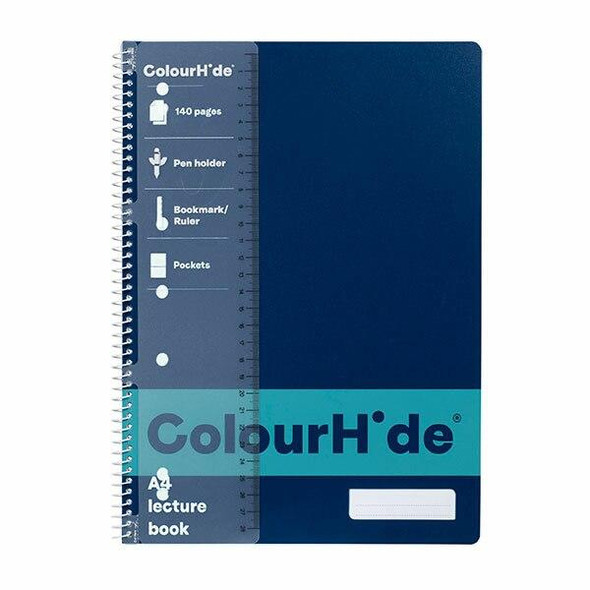 Colourhide Lecture Book A4 140page Navy X CARTON of 10 1719527J