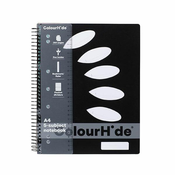 Colourhide Subject Book A4 250page Black X CARTON of 5 1719602J