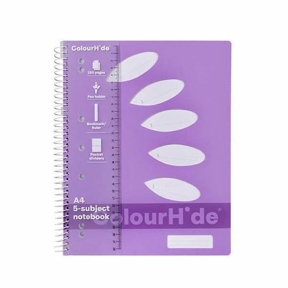 Colourhide Subject Book A4 250page Purple X CARTON of 5 1719619J